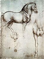 Study of horses, 1490, vinci