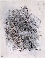 Study of Saint Anne, Mary and the Christ Child, 1503-1510, vinci