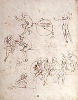 Various figure studies, vinci