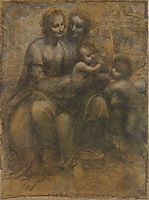 The Virgin and Child with Saint Anne and Saint John the Baptist, c.1499, vinci