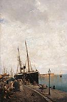 At the Jetty, c.1875, volanakis