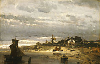 Village on a Dutch Coast, 1876, volanakis