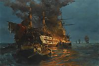 The burning of a Turkish frigate, volanakis