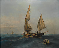 Fishing boat in choppy waters, volanakis