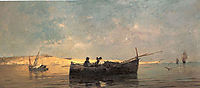 Fishing boat at dusk, volanakis