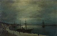 Moonlit harbour, volanakis
