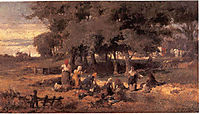 Washing women at the river, volanakis