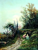 Landscape with the Village Children, volkov
