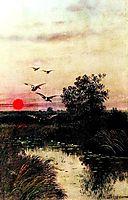 Sunset over the Lake, volkov