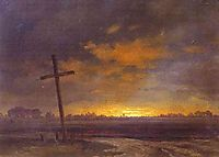 Landscape with a Cross. Lithuania, vorobiev