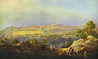 View of Jerusalem, 1836, vorobiev