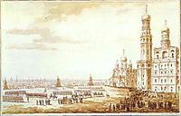 View of Sobornaya Square in the Moscow Kremlin, 1817, vorobiev