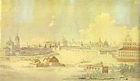 View from Yauza on Kremlin in Moscow, vorobiev