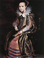Elisabeth (or Cornelia) Vekemans as a Young Girl, 1625, vos