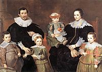 The Family of the Artist, 1635, vos