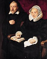 Portrait of Elisabeth Mertens and her Late Husband, 1630, vos