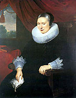 Portrait of a lady, 1625, vos