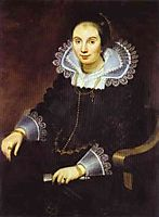 Portrait of a Lady with a Fan, vos