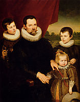 Portrait of a Nobleman and Three Children, vos