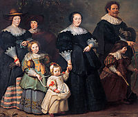 Self-portrait of the Artist with his Wife Suzanne Cock and their Children, c.1630, vos
