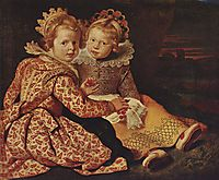 Two daughters of the painter, c.1640, vos