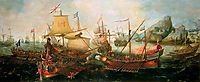 Attack on Spanish Treasure Galleys, Portugal, 1602, vroom