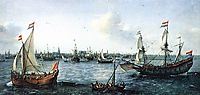 The Harbour in Amsterdam, 1630, vroom