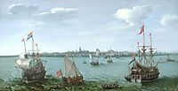 View of Hoorn (Netherlands), 1622, vroom