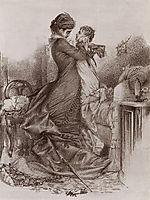 Anna Karenina meets her son, 1878, vrubel