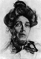 Artist-s wife Nadezhda Zabela, 1905, vrubel