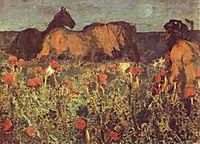 At Nightfall, 1900, vrubel