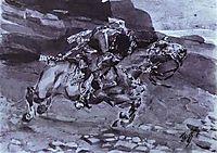 Rider (, 1891, vrubel