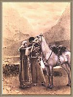 Farewell of Zara with Ismail, 1890, vrubel