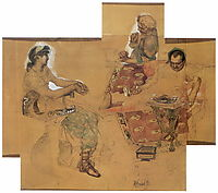 Feasting Romans, 1883, vrubel
