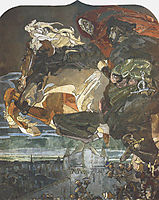 Flight of Faust and Mephisto, 1886, vrubel