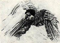 The Flying Demon, c.1890, vrubel