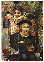 Hamlet and Ophelia, 1883, vrubel