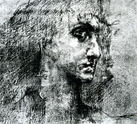 Head of angel, 1887, vrubel