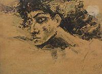 Head of Demon, c.1890, vrubel