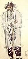 Kudma, the sorcerer (Costume design for the opera , 1900, vrubel