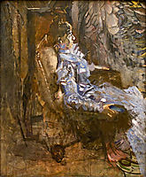 A Lady in Lilac (Portrait of Nadezhda Zabela) , c.1901, vrubel