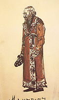 Mamyrov, the old deacon (Costume design for the opera , 1900, vrubel