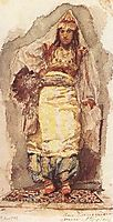 A model with eastern dress, 1884, vrubel