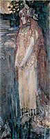 Nadezhda Zabela-Vrubel as Princess Volkhova, 1898, vrubel
