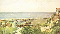 Odessa harbour, 1885, vrubel