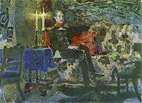 Portrait of an Officer (Pechorin on a Sofa), 1889, vrubel