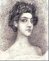 Portrait of Nadezhda Zabela-Vrubel, 1904, vrubel