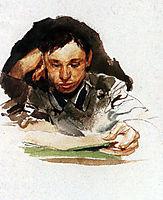 Portrait of student, 1882, vrubel