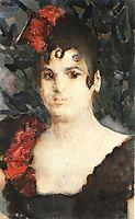 Portrait of a T. Lyubatovich in role of Carmen, 1895, vrubel