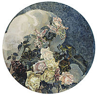 Roses and orchids, 1894, vrubel
